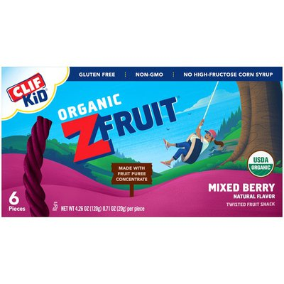 CLIF Kid Organic Mixed Berry Twisted Fruit Rope