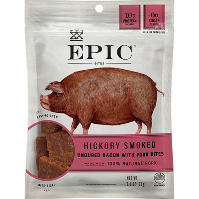 Epic Uncured Bacon Protein Bites, Keto Friendly, Whole30