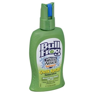 Bull Frog Sunscreen, Quik Spray, Broad Spectrum SPF 50