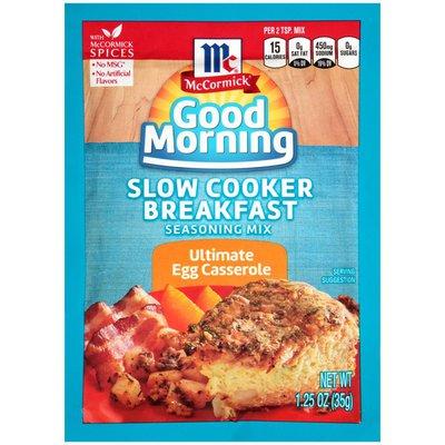 McCormick® Good Morning Ultimate Egg Casserole Slow Cooker Breakfast Seasoning Mix