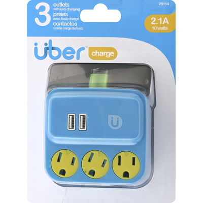 Uber Power Tap, 3 Outlets, 2.1 A/10 Watts