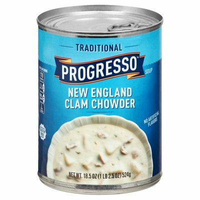 Progresso Soup, Clam Chowder, New England, Traditional