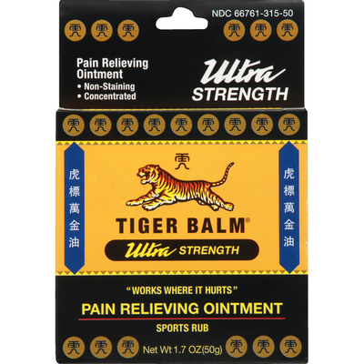 Tiger Balm Pain Relieving Ointment, Ultra Strength, Sports Rub