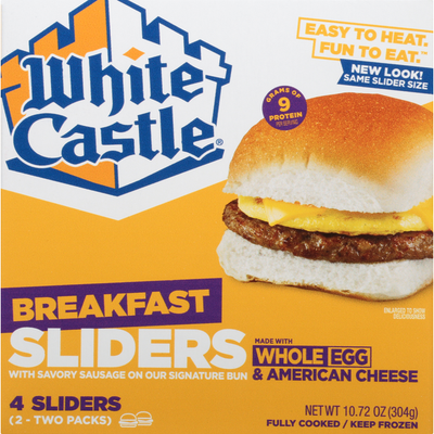 White Castle Breakfast Sliders, with Savory Sausage