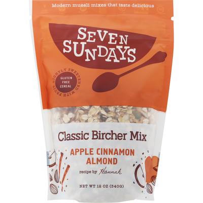Seven Sundays Cereal, Apple Cinnamon Almond, Classic Bircher Mix