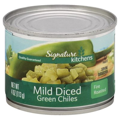 Signature Kitchens Chiles, Green, Mild, Diced