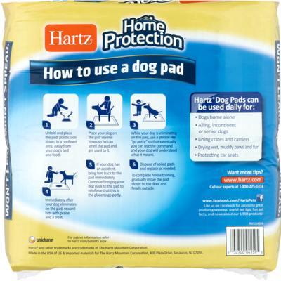 Hartz Home Protection FlashDry Gel Dog Pads Unscented - 50 CT