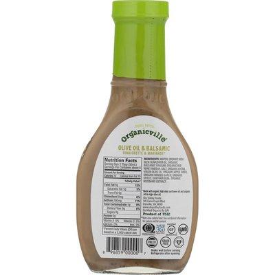 Organicville Vinaigrette, Organic, Olive Oil & Balsamic