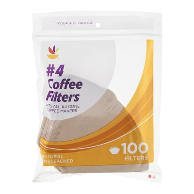 SB Coffee Filters #4 Cone Natural Unbleached - 100 CT