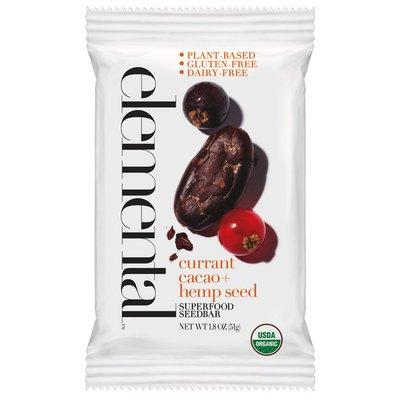 Elemental Superfood Currant Cacao, Hemp Seed Superfood Seedbar