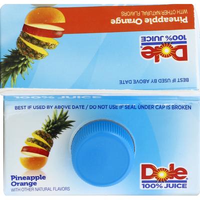 Dole Pineapple Orange Flavored Blend Of Juices