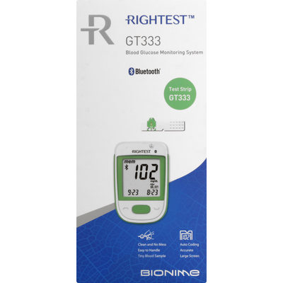 Rightest Blood Glucose Monitoring System, GT333