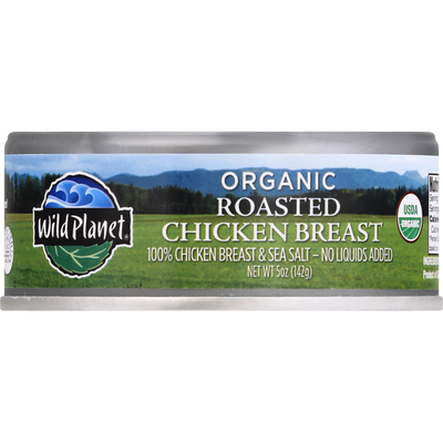 Wild Planet Chicken Breast, Organic, Roasted