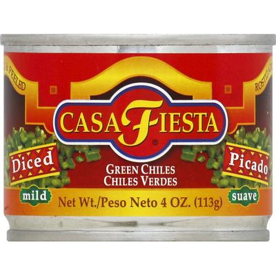 Casa Fiesta Chiles, Green, Mild, Diced