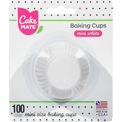 Cake Mate Baking Cups, White, Mini