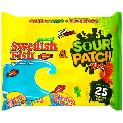 Sour Patch Kids & Swedish Fish Variety Pack Candy