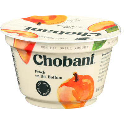 Chobani Yogurt, Greek, Non-Fat, Peach on the Bottom
