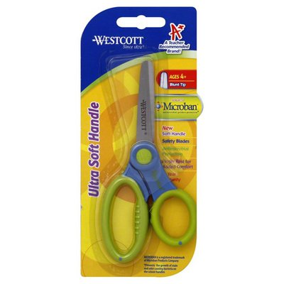 Westcott Scissors, Ultra Soft Handle, Blunt Tip
