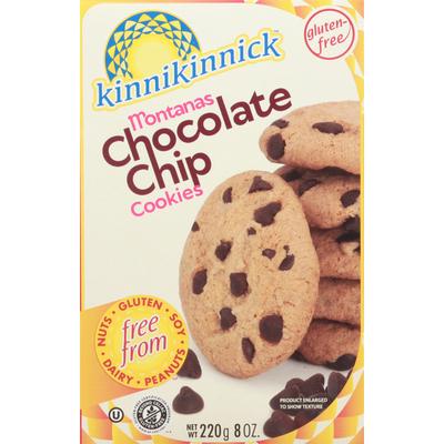 Kinnikinnick Cookies, Chocolate Chip, Montanas