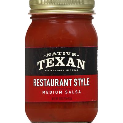 Dan's Native Texan Salsa Co. Salsa, Medium, Restaurant Style