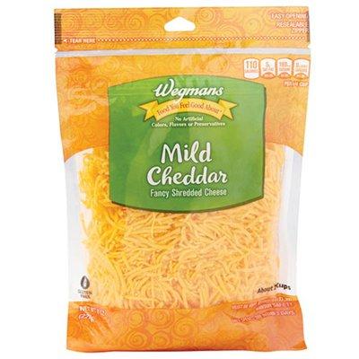 Wegmans Fancy Shredded Mild Cheddar Cheese