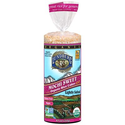 Lundberg Family Farms Mochi Sweet Organic Rice Cakes Lightly Salted