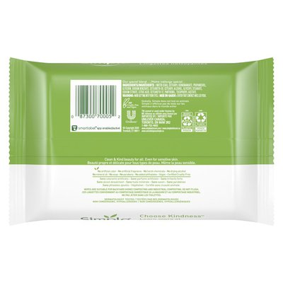Simply Facial Wipes Cleansing