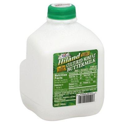 Hiland Buttermilk, Cultured, Nonfat