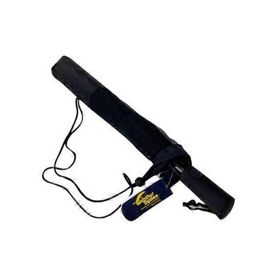 The Weather Station 56 Folding Golf Umbrella Black, With Windproof Frame Design Rubber Spray Handle &  Mesh Carrying Case