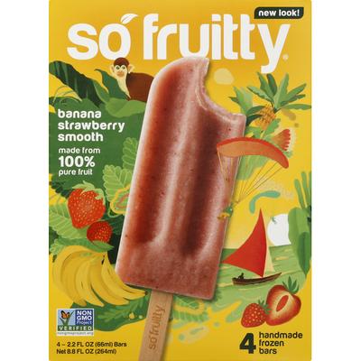 So Fruitty Frozen Bars, Banana Strawberry Smooth