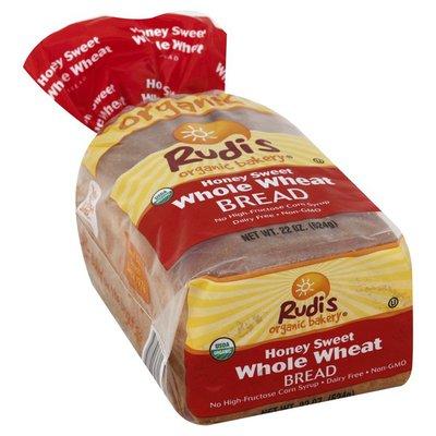 Rudis Bread, Whole Wheat, Honey Sweet
