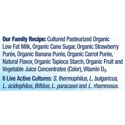 Stonyfield® Organic Kids Strawberry Banana Lowfat Yogurt Smoothies