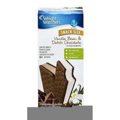 Weight Watchers Ice Cream Sandwiches Vanilla Bean & Dutch Chocolate - 8 CT