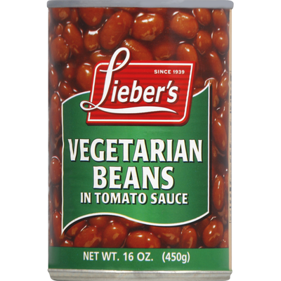 Lieber's Vegetarian Beans, in Tomato Sauce