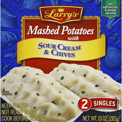 Larrys Mashed Potatoes, with Sour Cream & Chives