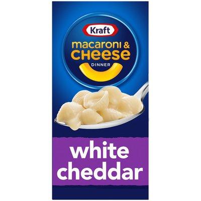 Kraft White Cheddar Macaroni & Cheese Dinner with Pasta Shells