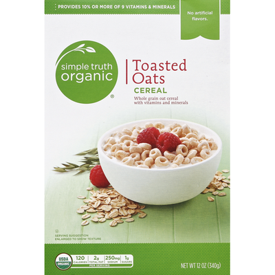 Simple Truth Organic Cereal, Toasted Oats