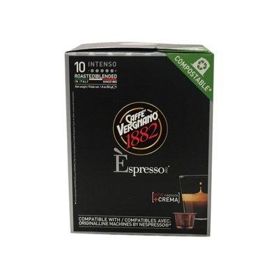 Caffe Vergnano Coffee, Dark Roasting, Espresso, Intenso, Capsule