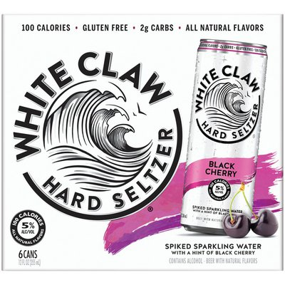 White Claw Black Cherry Hard Seltzer Black Cherry Hard Seltzer