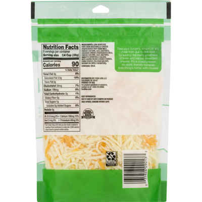 Food Lion Cheese, Shredded, Natural, Pizza Blend, Pouch
