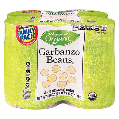 Wegmans Organic Garbanzo Beans, FAMILY PACK
