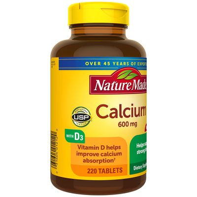 Nature Made Calcium 600 mg Tablets with Vitamin D3