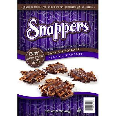 Snappers Dark Chocolate Sea Salt Caramel Pretzels