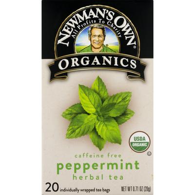 Newman's Own Peppermint Herbal Tea