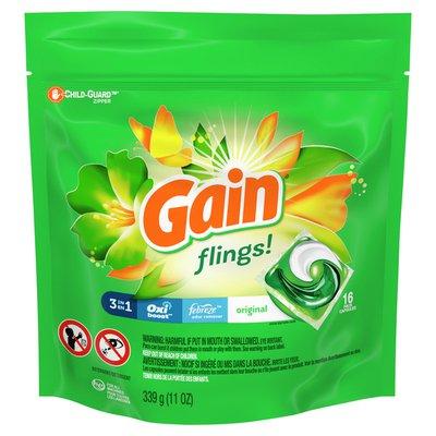 Gain Flings Liquid Laundry Detergent, Original Scent