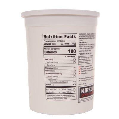 Kirkland Signature Organic Greek Yogurt, 48 oz