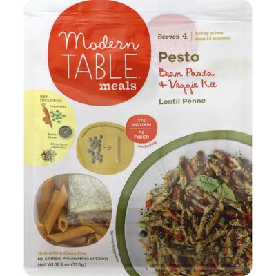 Modern Table Pesto Bean & Vegetable Kit, Lentil Penne