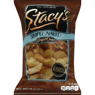 Stacy's Bagel Chips, Baked, Simply Naked