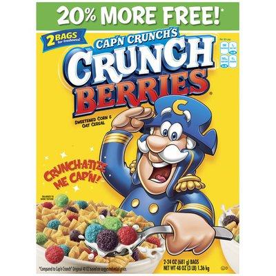 Cap'N Crunch Crunch Berries 20% More Free! Cereal