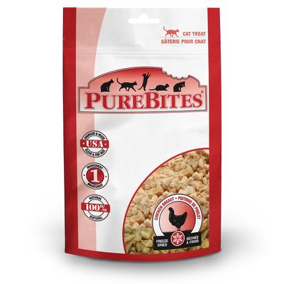 PureBites 100% USDA Freeze Dried Chicken Breast Treats for Cats